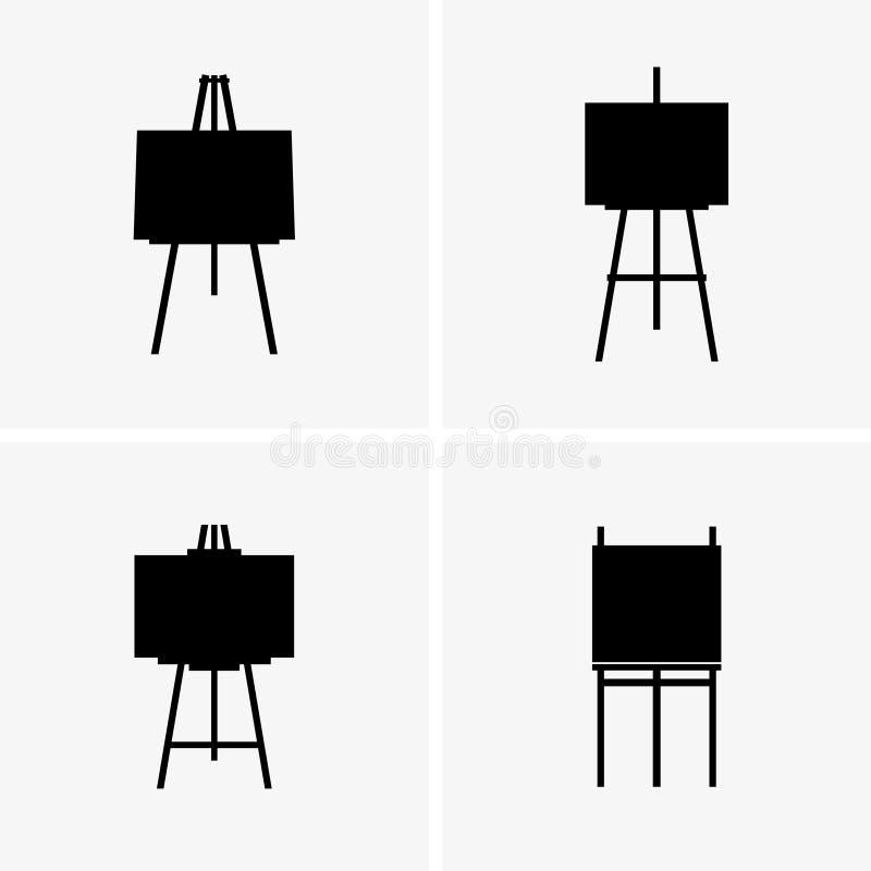 schildersezels stock illustratie