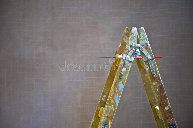 Schildersladder stock afbeeldingen