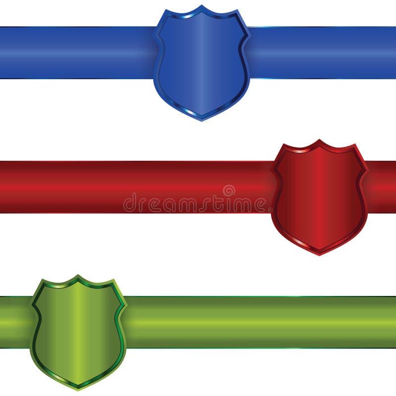 Schildfahnen vektor abbildung