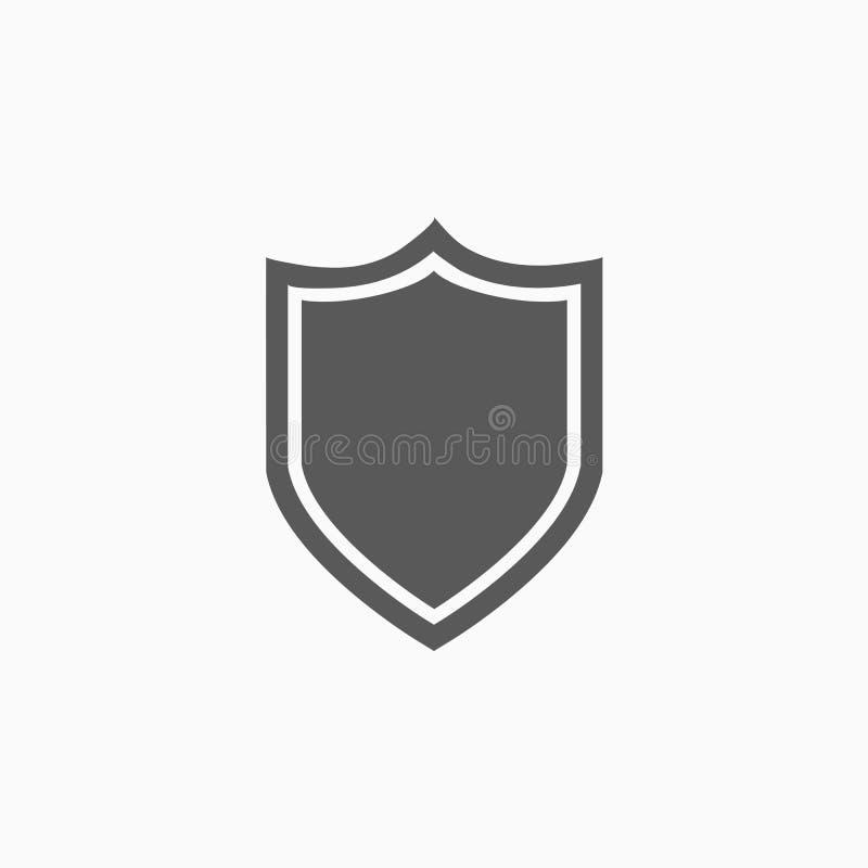 Schildikone, Sicherheit, schützen sich, schützen lizenzfreie abbildung