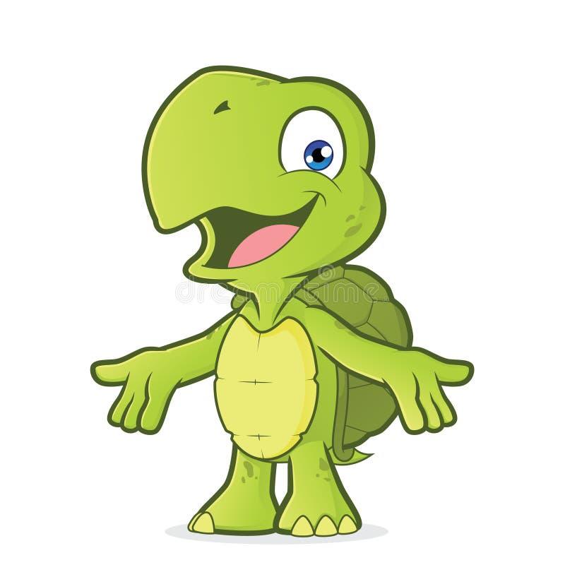 Schildkröte mit den freundlichen offenen Armen lizenzfreie abbildung