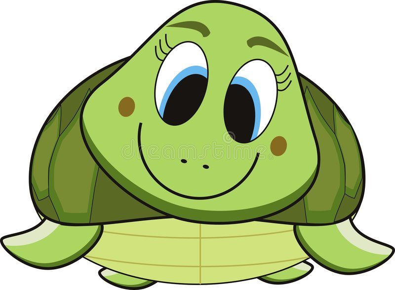 Schildkrötekarikatur stock abbildung
