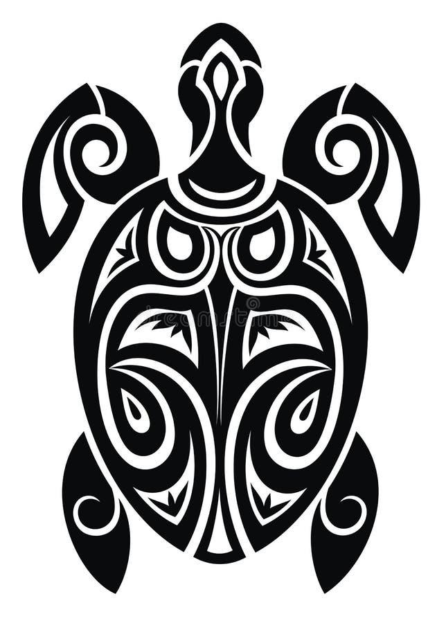 Schildpad Tatoegering Design vector illustratie
