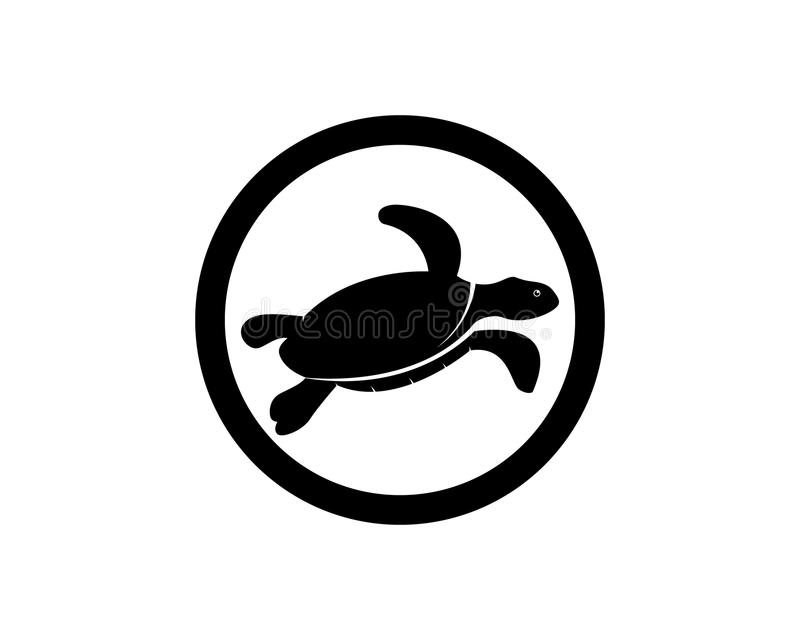 Schildpad vectorpictogram vector illustratie