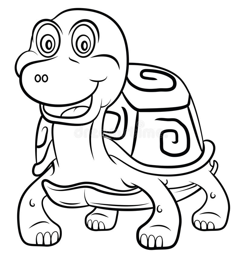 Schildpadbeeldverhaal stock illustratie