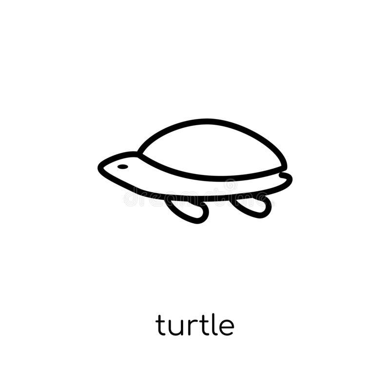 Schildpadpictogram  royalty-vrije illustratie