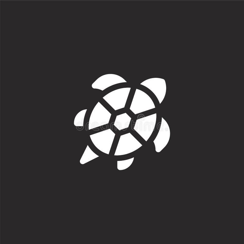 Schildpadpictogram Gevuld schildpadpictogram voor websiteontwerp en mobiel, app ontwikkeling schildpadpictogram van gevulde overz vector illustratie