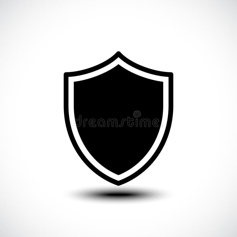 Schildschutz-Ikonenillustration stockbilder