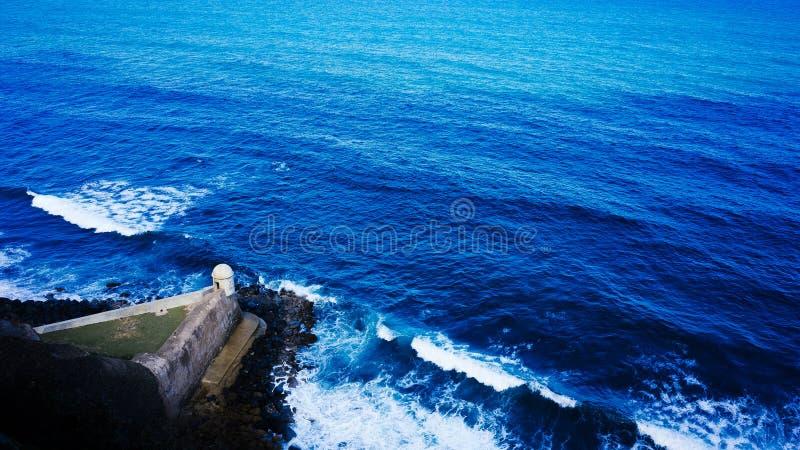 Schildwachtdoos in San Juan stock foto's
