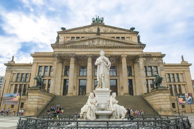 Schiller Monument and Concert Hall stock photo