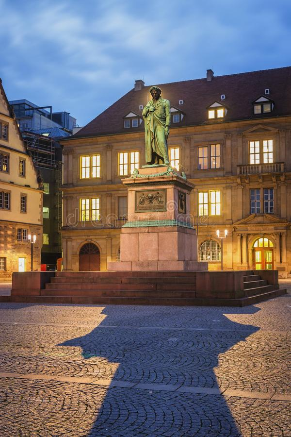 Schillerplatz - Stuttgart, Alemania fotografía de archivo