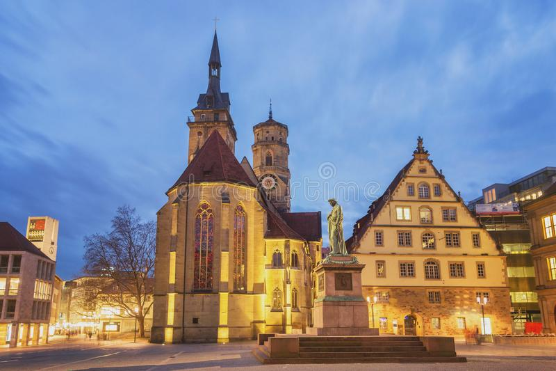Schillerplatz, Stuttgart -, Niemcy zdjęcie royalty free