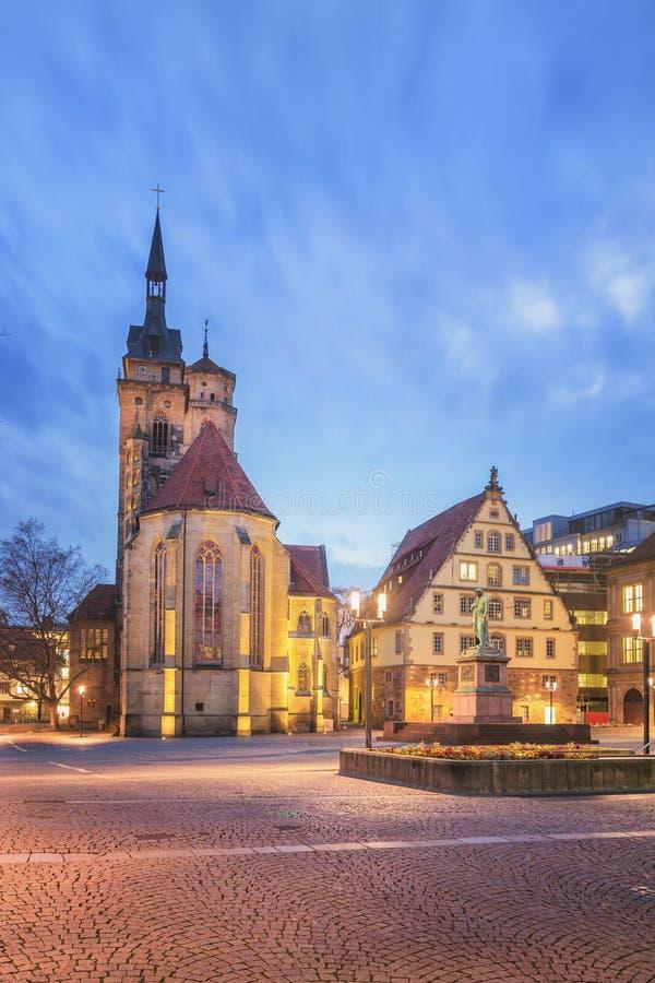 Schillerplatz, Stuttgart -, Niemcy obraz royalty free
