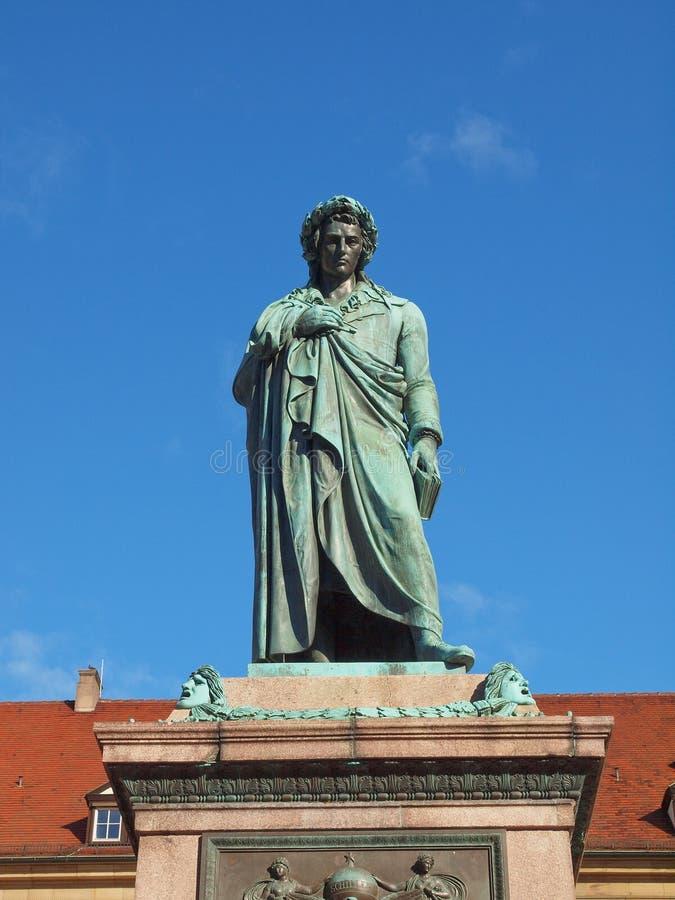 Schillerstandbeeld, Stuttgart royalty-vrije stock fotografie