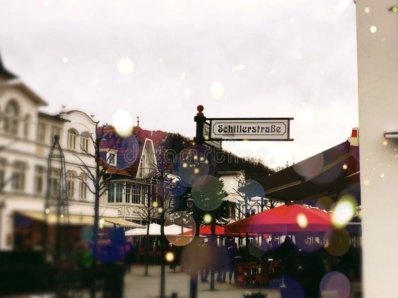 Schillerstraße стоковое изображение rf