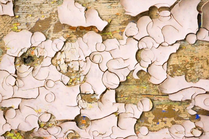 Schilverf van lichtbruine kleur op de houten textuuroppervlakte royalty-vrije stock afbeeldingen