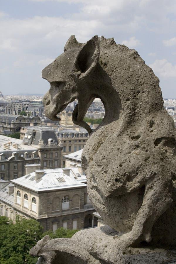 Schimäre von der Notre- Damekathedrale lizenzfreies stockfoto