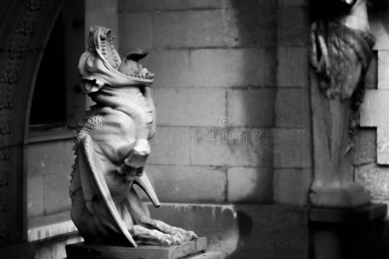 Schimärenskulptur stockfoto