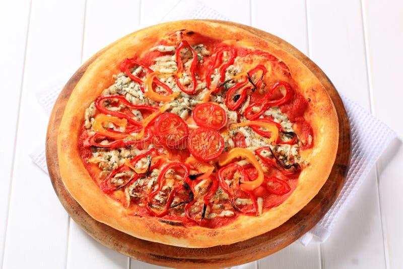 Schimmelkaaspizza royalty-vrije stock foto's