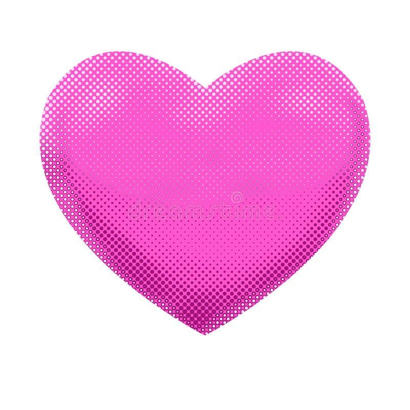 Schimmerndes rosa Liebes-Herz - Text-Raster-Entwurf lizenzfreie abbildung