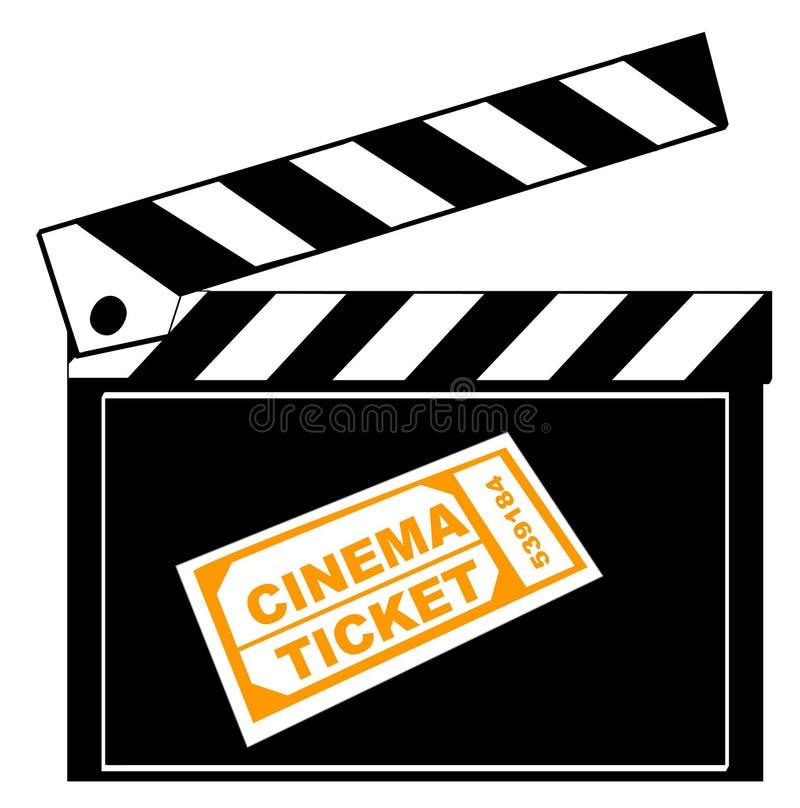 Schindel- und Kinokarte lizenzfreie abbildung