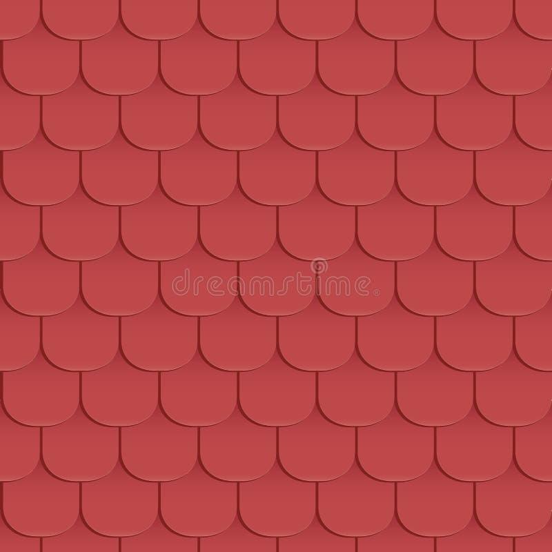 Schindeln überdachen nahtloses Muster stock abbildung