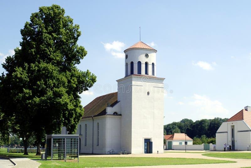 Schinkel Church of Neuhardenberg in Germany stock image