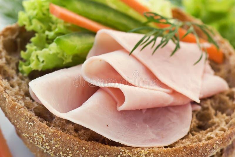 Schinken sandwitch stockfotos