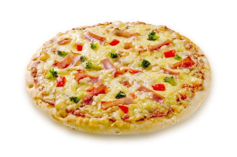 Schinken- und Käsepizza lizenzfreies stockfoto