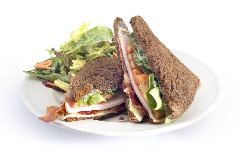 Schinkenkäse und Tomatensandwich lizenzfreie stockfotos