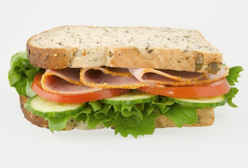 Schinkensalatsandwich lizenzfreies stockbild