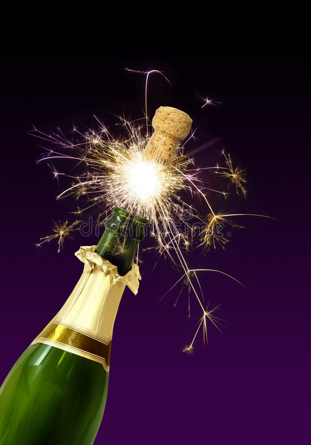 Schioccare del sughero di Champagne fotografia stock libera da diritti