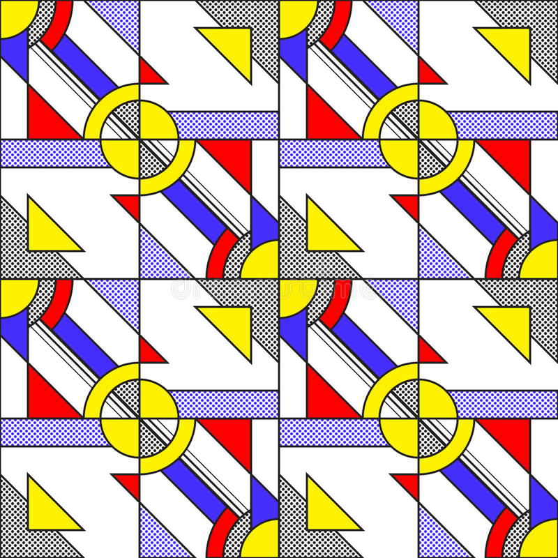 Schiocco Art Pattern illustrazione di stock