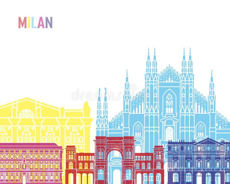 Schiocco dell'orizzonte di Milano illustrazione di stock