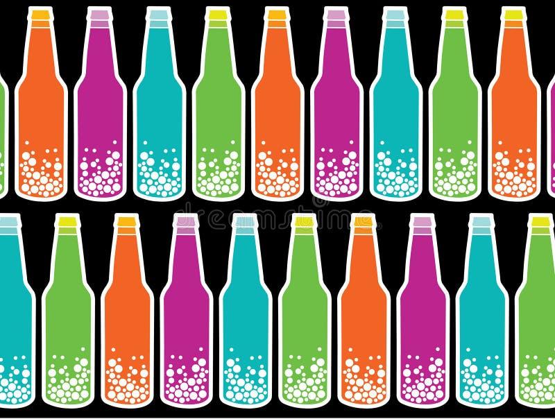 Schiocco di soda del Rainbow sul nero illustrazione vettoriale