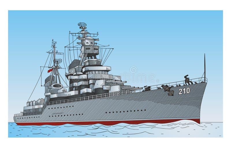 Schip stock illustratie