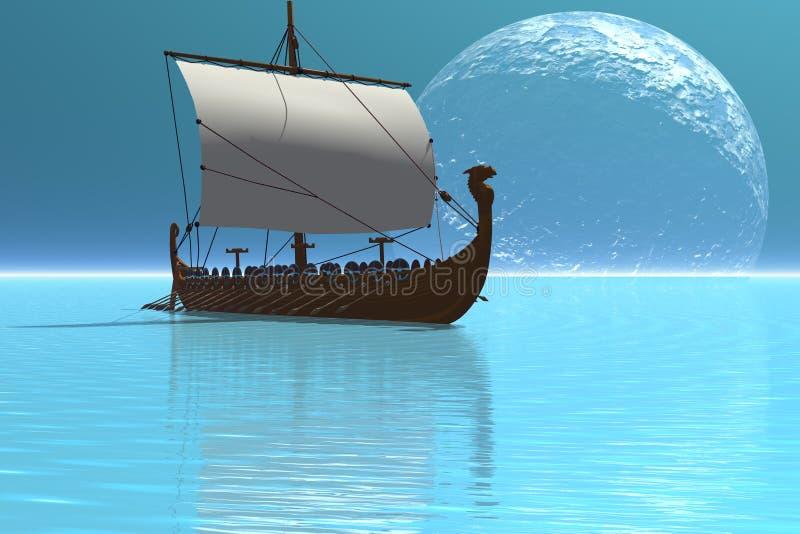 Schip 2 van Viking royalty-vrije illustratie