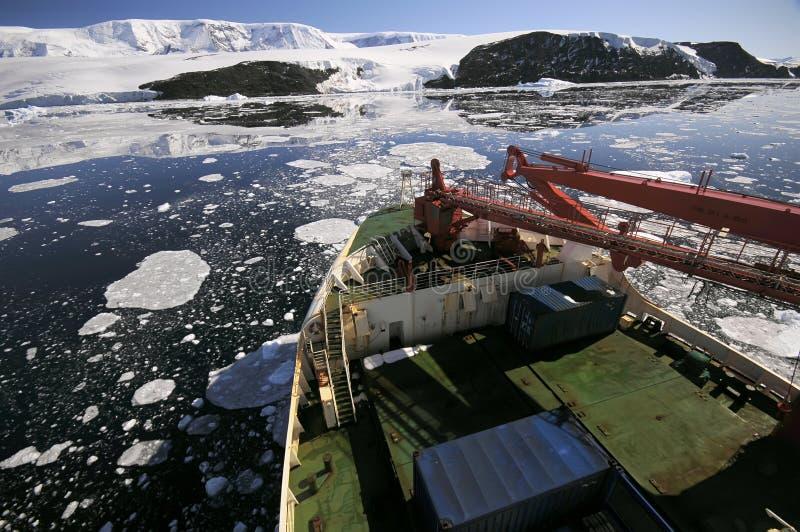 Schip in Antarctica stock fotografie