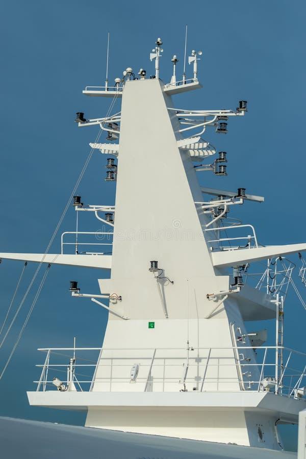 Schip Communicatie Mast royalty-vrije stock foto