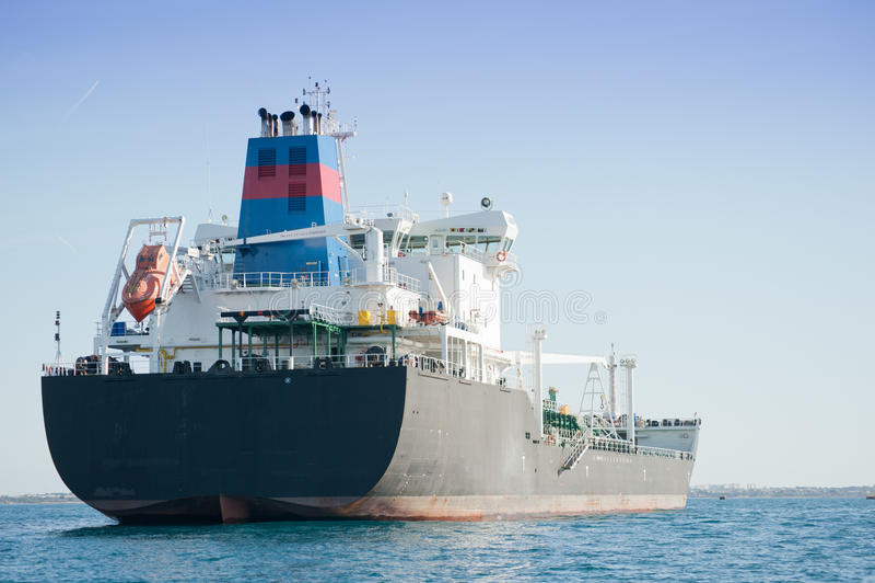 Schip in de haven royalty-vrije stock foto