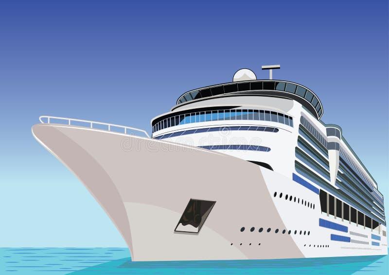 Schip. De voering van de cruise royalty-vrije illustratie