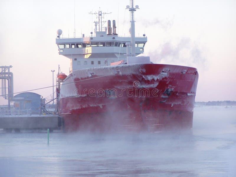 Schip in de winter royalty-vrije stock afbeelding