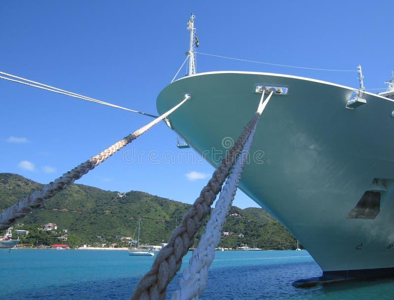 Schip in haven royalty-vrije stock fotografie