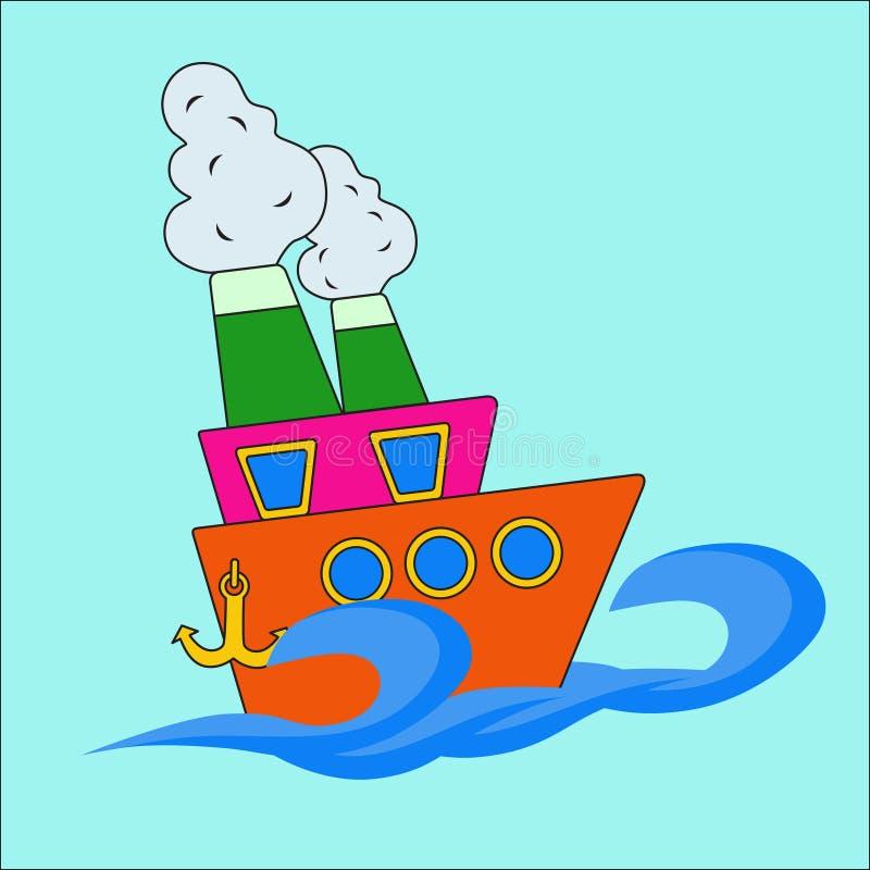 Schip op zee royalty-vrije stock fotografie