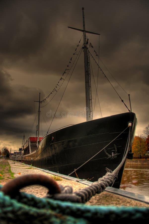 Schip in Turku - Finland royalty-vrije stock afbeeldingen