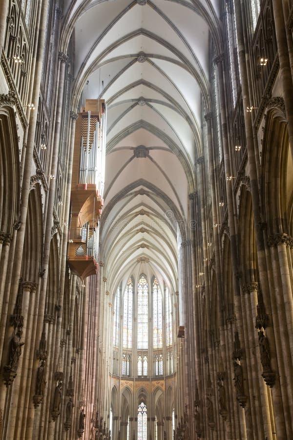 Schip van gotische Dom in Keulen royalty-vrije stock foto's