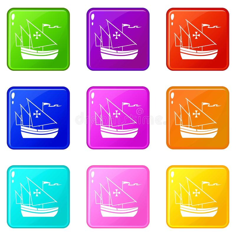 Schip van reeks 9 van Columbus royalty-vrije illustratie