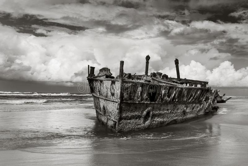 Schipbreuk in Fraser Island Australia royalty-vrije stock fotografie