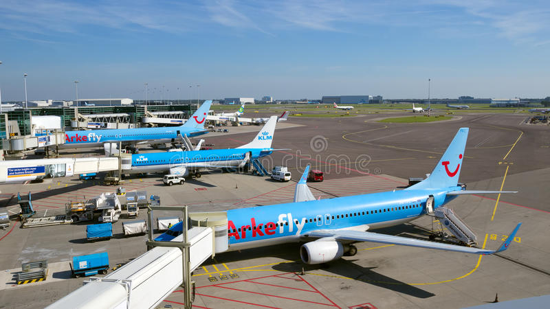 Schiphol airport royalty free stock images