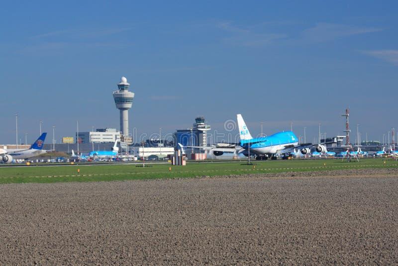Schiphol Amsterdam lotnisko zdjęcia royalty free